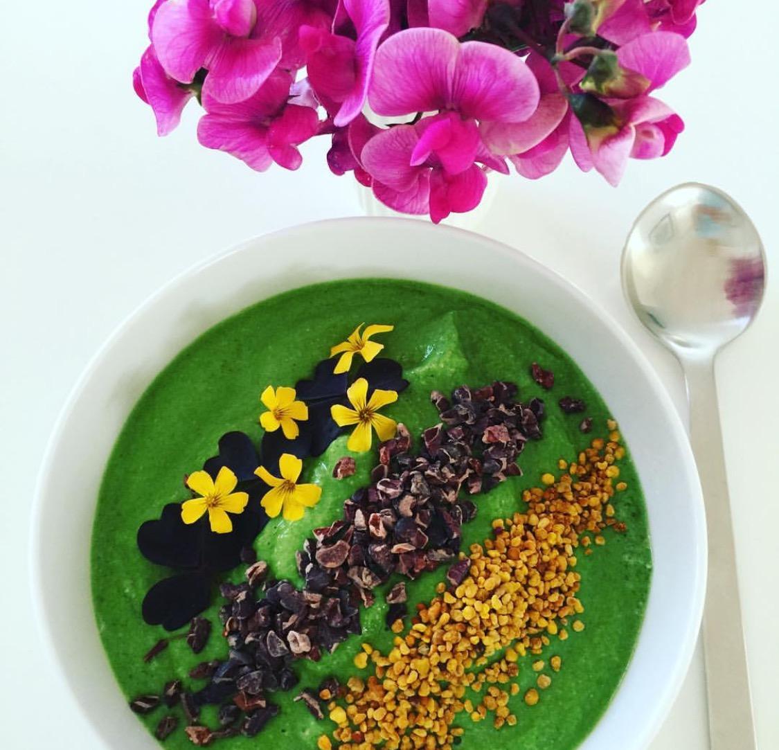 Grøn bowle med spinat og broccoli