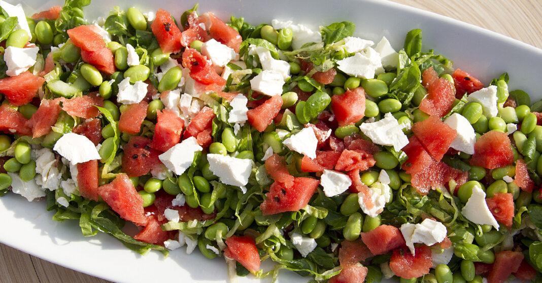 Sommer salat med vandmelon og feta –sommersalater