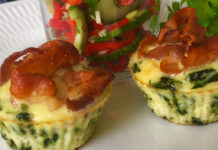 Spinatmuffins med bacon