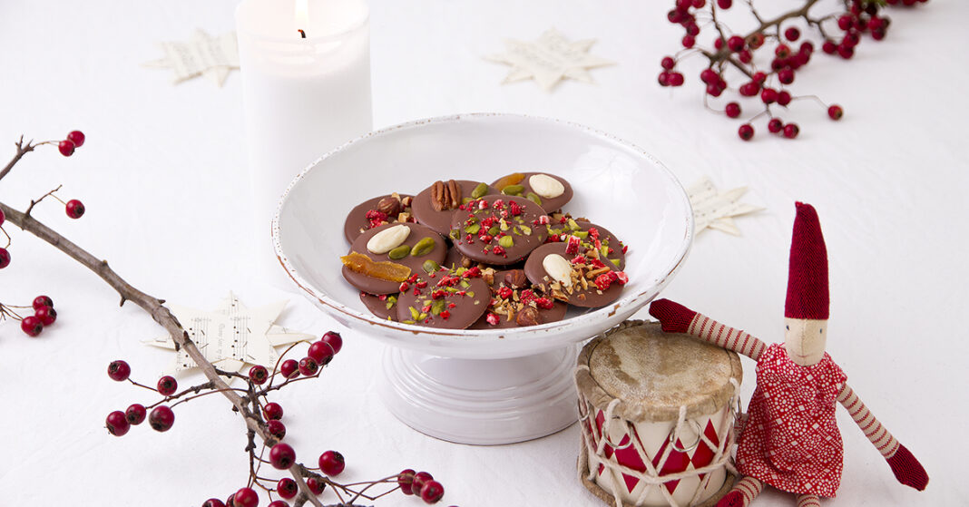 Konfekt: Chokoladepastiller med superfoods