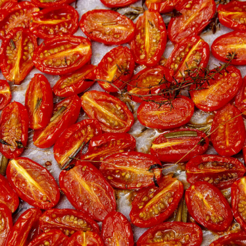 Semidried tomatoes alias langtidsbagte tomater