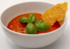 Tomatsuppe med parmesanflager