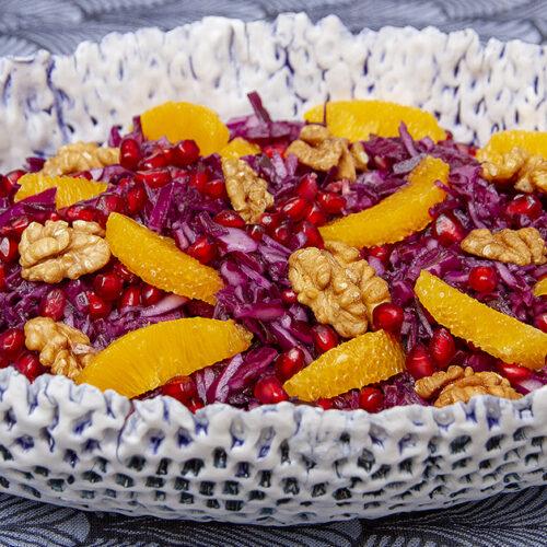 Rødkålssalat med granatæblekerner