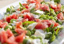 Sommer salat med vandmelon og feta