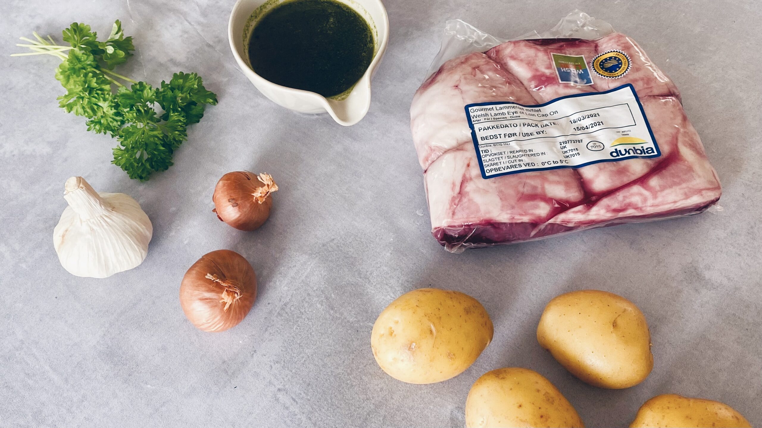 Walisisk lammefilet med bouillonkartofler